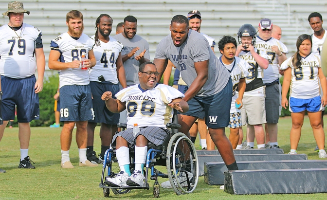 Wingate Football Special Olympics Day