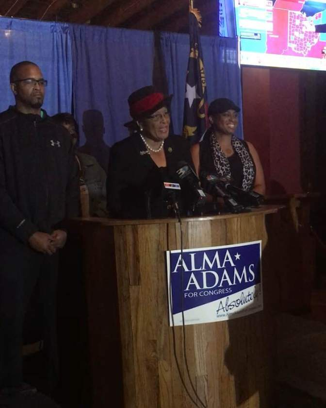 Students meet Alma Adams on Election Night