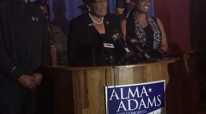 Students meet Alma Adams on Election Night