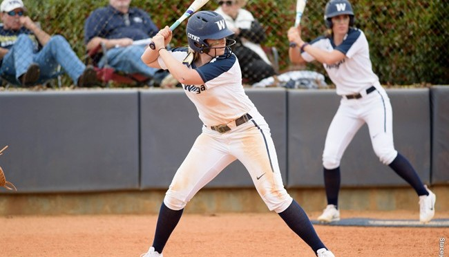 Wingate Softball gained record in a Double-header against Catawba