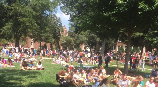 Wingate has a view party for the Solar Eclipse