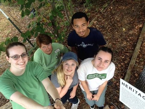 Students Pictured (from L to R): Molly Hutson, Celestia Randolph,, Christopher Nichols, and Hailey Dumas